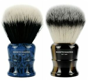 MASETO Classic 26/28/30mm Luxury Silvertip&2-Band Synthetic Fiber Shaving Brush