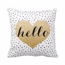 Heart Black Dots Square Throw Pillow Case Cushion Cover Home Decor