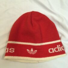 VTG Adidas Red Knit Beanie Fleece-Lined Awesome Hat!