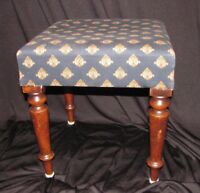 Antique American Mahogany Foot Stool Circa 1840