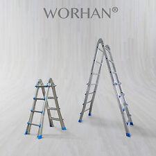 WORHAN® 414cm Ladder Foldable Telescopic Extendable  Multipurpose Alu Rigid L4