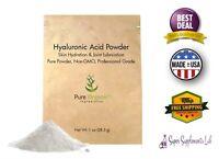 Pure Organic HYALURONIC ACID SERUM POWDER 1 Oz Food & Cosmetic Grade Skin Care