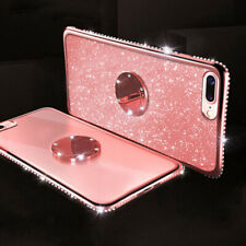 For iPhone 11 Pro XS Max XR 7 8 Plus Case Bling Crystal Stand TPU Silicone Cover