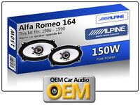 ALFA ROMEO 164 ripiano portapacchi SPEAKER Alpine altoparlante auto kit 150W