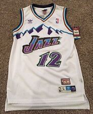 aaec7eeb4 ... Purple Hardwood Classic Swing Utah Jazz John Stockton White 12 Throwback  Classic Swingman Men Jersey ...