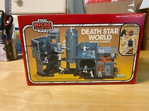 Star Wars Micro Collection Death Star World Playset - 1982 Kenner Toy In Box