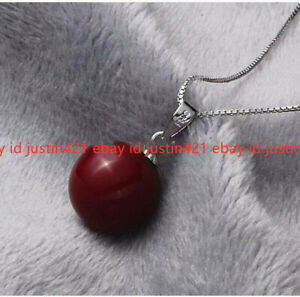 8 Colors Genuine South Sea Shell Pearl Round Beads Pendant Necklace 17''