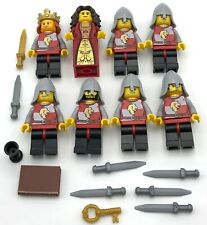 LEGO 8 MINIFIGS CASTLE LION KNIGHT KINGDOMS KING QUEEN MEN WEAPONS MORE