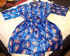 Western Bulldogs AFL Mens Blue Satin Kimono Dressing Gown Robe One Size New