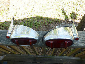 1949 1950 Packard Super 8 PATSG Tail Light with Fender Extension Custom Rat Rod