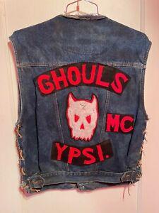 vtg 1% Motorcycle Club Vest-