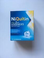 NiQuitin Mint 2 mg Lozenges - Effective Smoking Craving Relief - 72 Lozenges