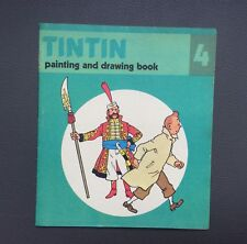 HERGÉ. Album à colorier Tintin N°4.Édition Anglaise Methuen children's book 1979