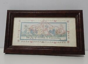 Scherenschnitte cuts by Regina Walters The Joy of Children Eavenson Framed Small