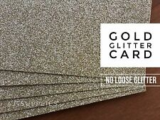 Gold Glitter CardStock (A4) High Quality Smooth No Loose Glitter Paper