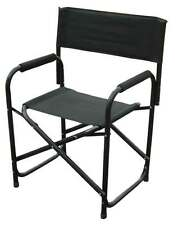 Directors Chairs Standard Height Folding Chair Black Aluminum Single Chair