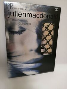 Pretty Polly JulienMacdonald Tights Fishnet The Catwalk Collection Black M/L BN