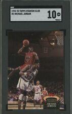 Michael Jordan 1992-93 Topps Stadium Club #1 Chicago Bulls HOF SGC 10
