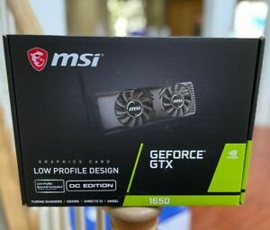 BRAND NEW MSI Nvidia GeForce GTX 1650 OC 4GB Low Profile - In Hand