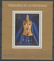 v489 Rumänien/ Goldkunst   MiNr Block 107 **
