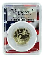 2019 S Sacagawea Dollar PCGS PR69 DCAM - Flag Frame