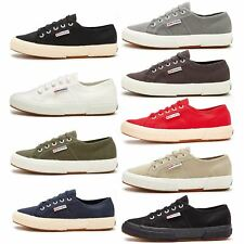 Superga 2750 Cotu Classic Canvas Shoes in White Taupe, Black, Grey Blue & Green