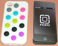 Incipio changeable dot case for iPhone 4/4s, white with color dots