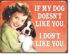 Hunde Freunde Bernadiner Welpen USA Retro Metall Deko Schild  Plakat