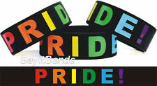 Rainbow Pride Merchandise Wristand Bracelet Proud Colorful Band Free Shipping