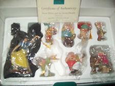 WDCC LE Snow White 7 Dwarfs Ornament Set New In Box