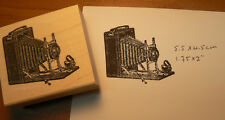 P6 Photo camera Vintage-Antique rubber stamp 2.5x2.25""