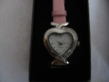 AVON CLASSIC HEART  WATCH CZ ACCENTS NIB