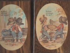 Two Boys Wood Plaques Reckon Time Supper Farming for Us