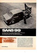 1969 SAAB 99 ~  NICE ORIGINAL 3-PAGE ARTICLE / AD
