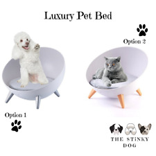 Dog Cat Bed Raised Chair Small Dog Puppy Pet Furniture Elevated Comfy Cushion UK