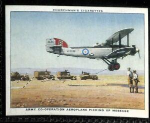 Tobacco Card, Churchman, THE RAF AT WORK, 1938, Aeroplane Picking Up Message,#46