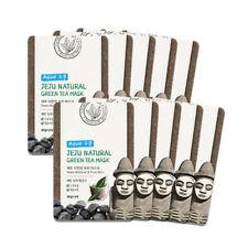 Welcos Jeju Natural Green Tea Deep Moisture  Pure Skin Mask 10pcs korea Cosmetic