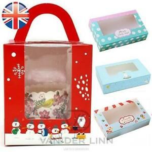 Mini Cupcake Boxes Polka Dots Christmas Circus Theme Boxes for 2, 4, 6 Cakes