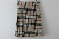 BURBERRY LONDON Wool Pleated Skirt Size UK 6