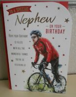 To a special Nephew on your Birthday Card Happy Birthday Cycling bike ride card