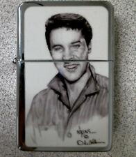 Elvis Presley OIL LIGHTER, DALE ADKINS ART, NEW