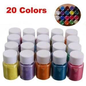 20Colors Mica Mineral Powder Epoxy Resin Dye Pearl Shimmery Pigment DIY 4Pcs/Set