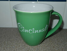 City Cincinnati Ohio Large Coffee Tea Hot Cocoa Beverage Mug Cup Green