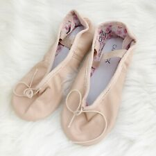 New Capezio DAISY Ballet Pink Slippers #205 Leather Girls Dance Shoes Size 13