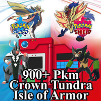 Crown Tundra Pokedex 900+ Sword Shield Armor Pokemon Square Shiny