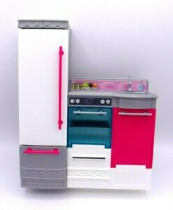 Barbie Dreamhouse Kitchen Refrigerator Sink Stove Oven Replacement Parts 2015
