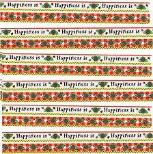 SRM Press Border HAPPINESS Is Scrapbook Stickers 6 Sheets! Flowers Garden
