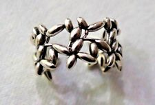 925 STERLING SILVER FLOWER FRENZY RING ADJUSTABLE SIZE 6-8
