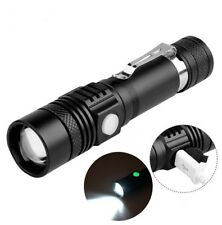 LED Taschenlampe Polizei Cree Zoom USB Wiederaufladbar Camping licht+18650 Akku