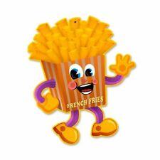 French Fries Character Cartoon Plasma Cut Figure Metal Sign
